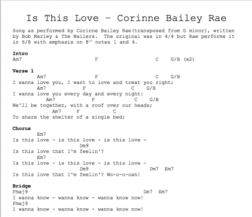 Is This Love Chord Chart Jim Kulakowski Composer Sound Designer