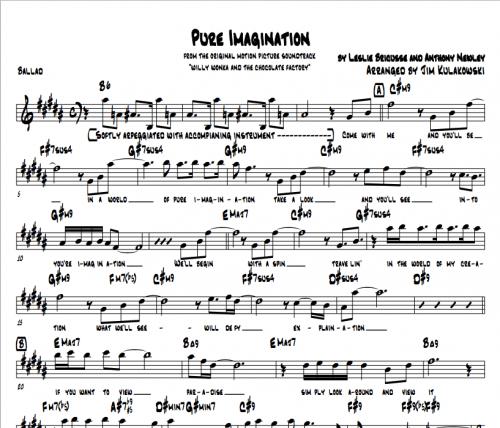 Pure Imagination Jazz Piano Cover Jim Kulakowski